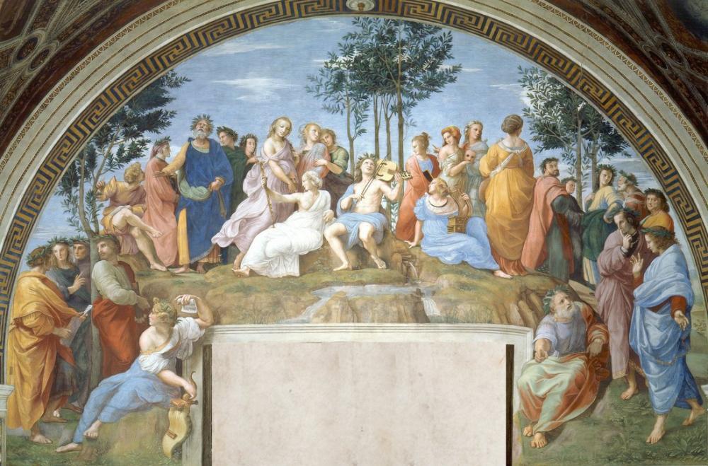 Raphael Mühür Roma Parnaso Konaklaması, Kanvas Tablo, Raphael, kanvas tablo, canvas print sales