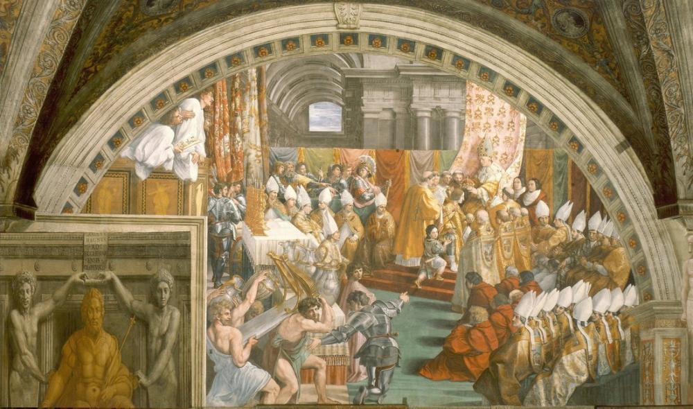 Raphael Coronation Of Charlemagne, Canvas, Raphael, kanvas tablo, canvas print sales