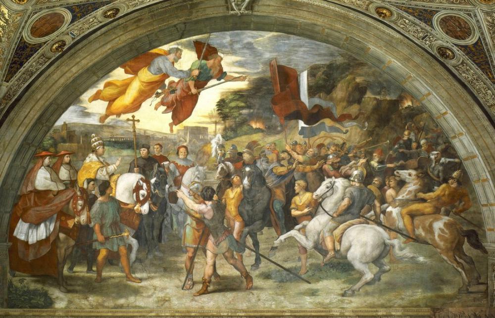 Raphael The Meeting Of Leo The Great And Attila, Canvas, Raphael, kanvas tablo, canvas print sales