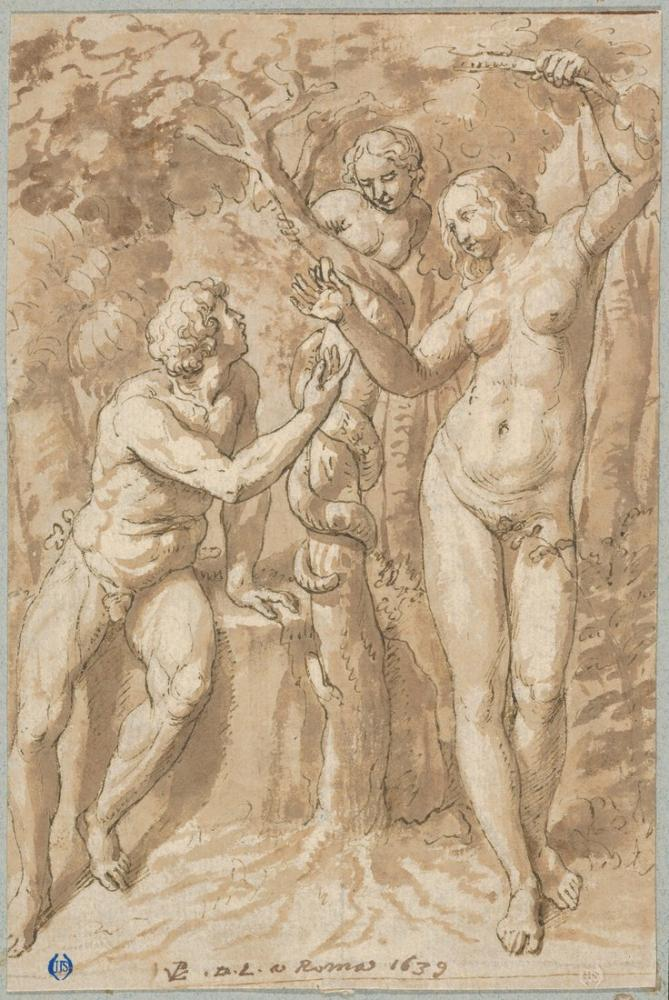 Raphael The Temptation Of Eve, Canvas, Raphael, kanvas tablo, canvas print sales