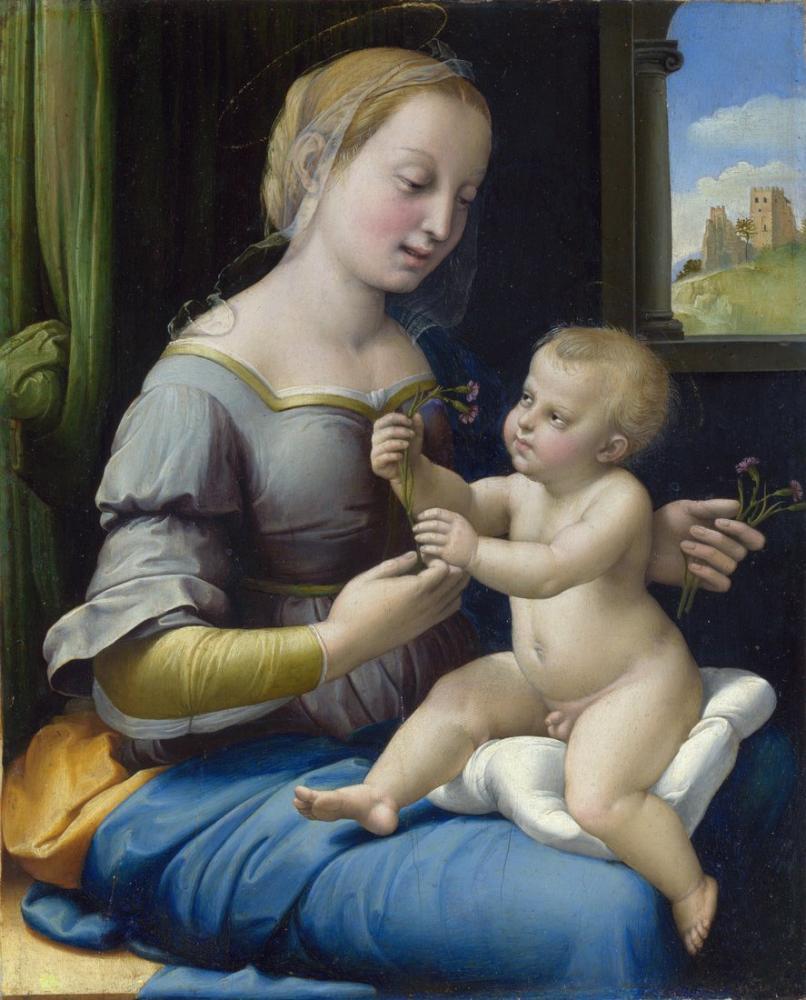 Raphael Pembeler İçin Madonna, Kanvas Tablo, Raphael, kanvas tablo, canvas print sales