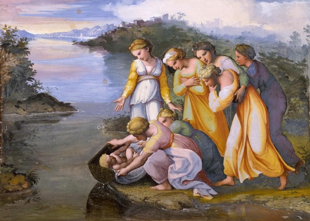 Raphael Musa Sulardan Kurtarıldı, Kanvas Tablo, Raphael, kanvas tablo, canvas print sales