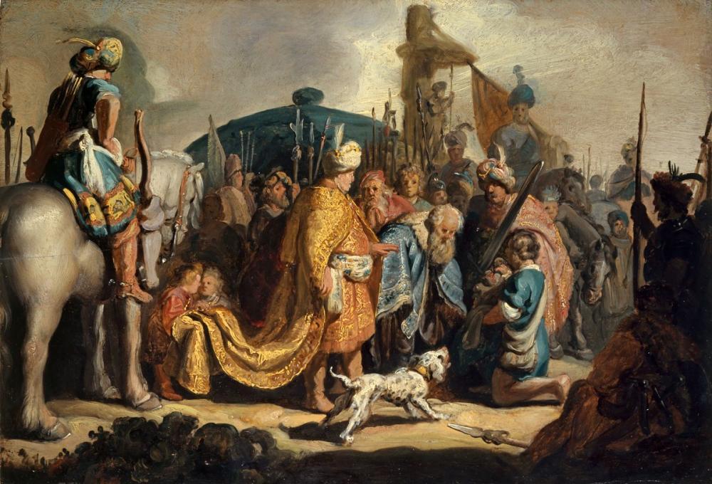 Rembrandt van Rijn, Davud Saul un Önünde Goliath ın Başı İle, Kanvas Tablo, Rembrandt, kanvas tablo, canvas print sales