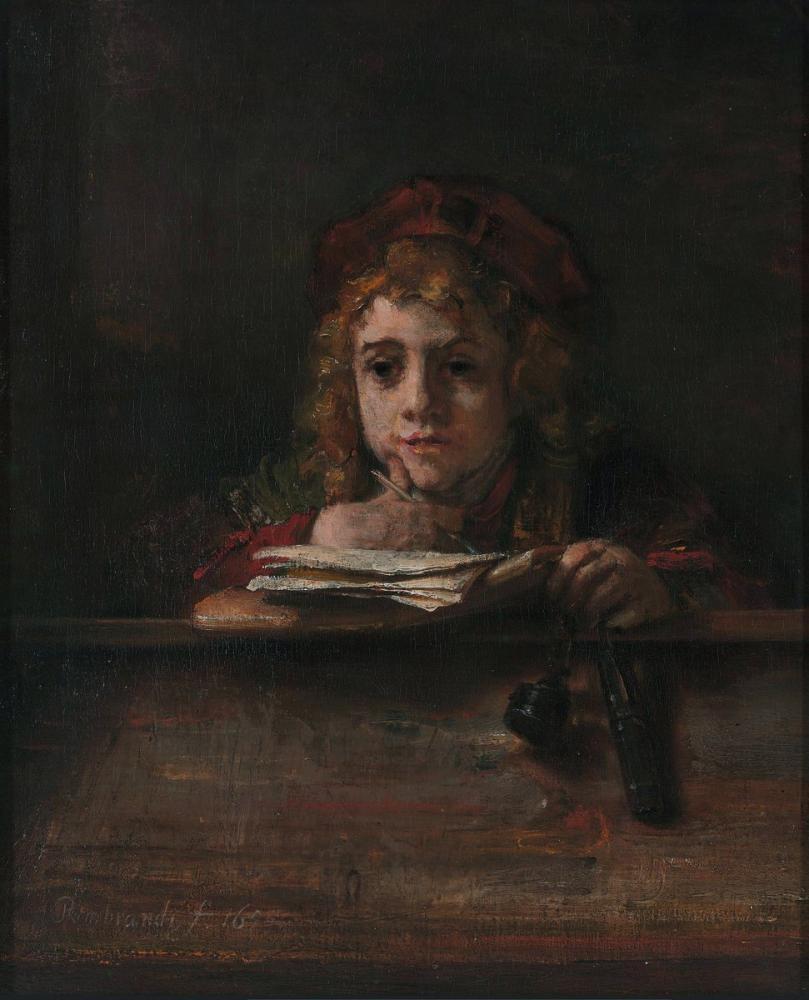 Rembrandt van Rijn, Titus At His Desk, Canvas, Rembrandt, kanvas tablo, canvas print sales
