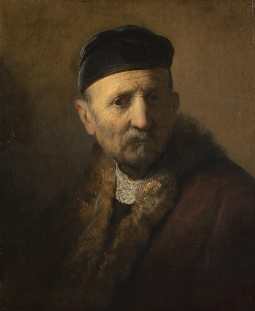 Rembrandt van Rijn, Yaşlı Bir Adamdan Tronie, Kanvas Tablo, Rembrandt, kanvas tablo, canvas print sales