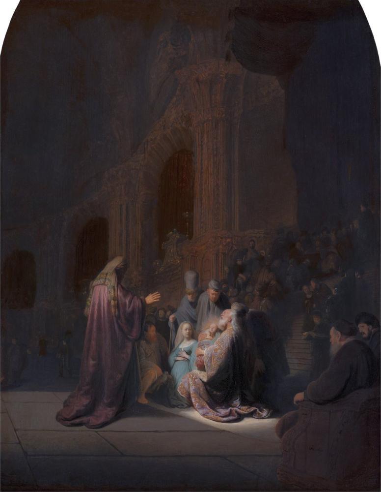 Rembrandt van Rijn, Simeon In The Temple, Canvas, Rembrandt, kanvas tablo, canvas print sales