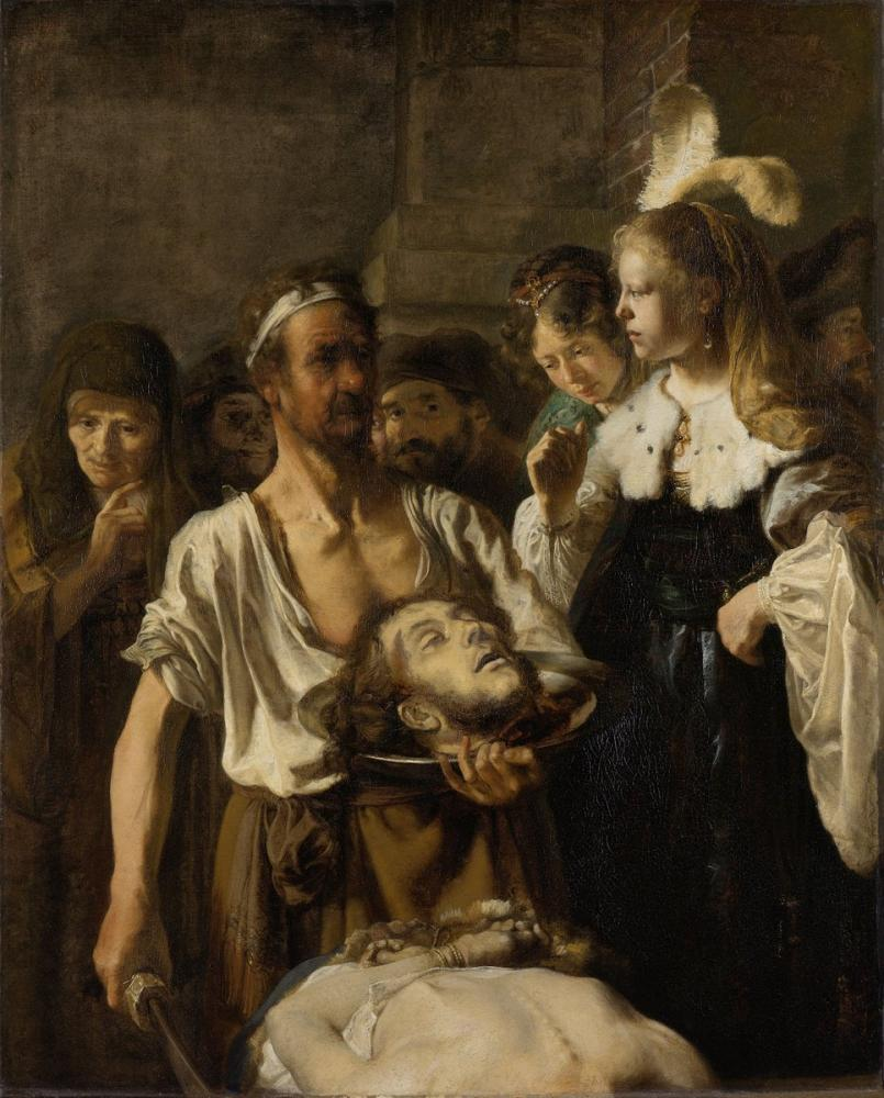 Rembrandt van Rijn, John Vaftiz Töreni, Kanvas Tablo, Rembrandt, kanvas tablo, canvas print sales