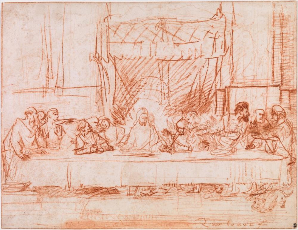 Rembrandt van Rijn, After Leonardo da Vinci, Figure, Rembrandt, kanvas tablo, canvas print sales