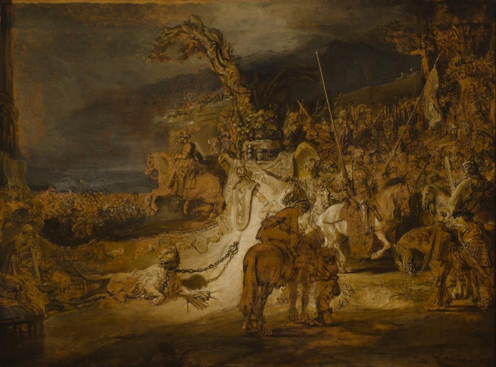 Rembrandt van Rijn, The Concord Of The State, Canvas, Rembrandt, kanvas tablo, canvas print sales