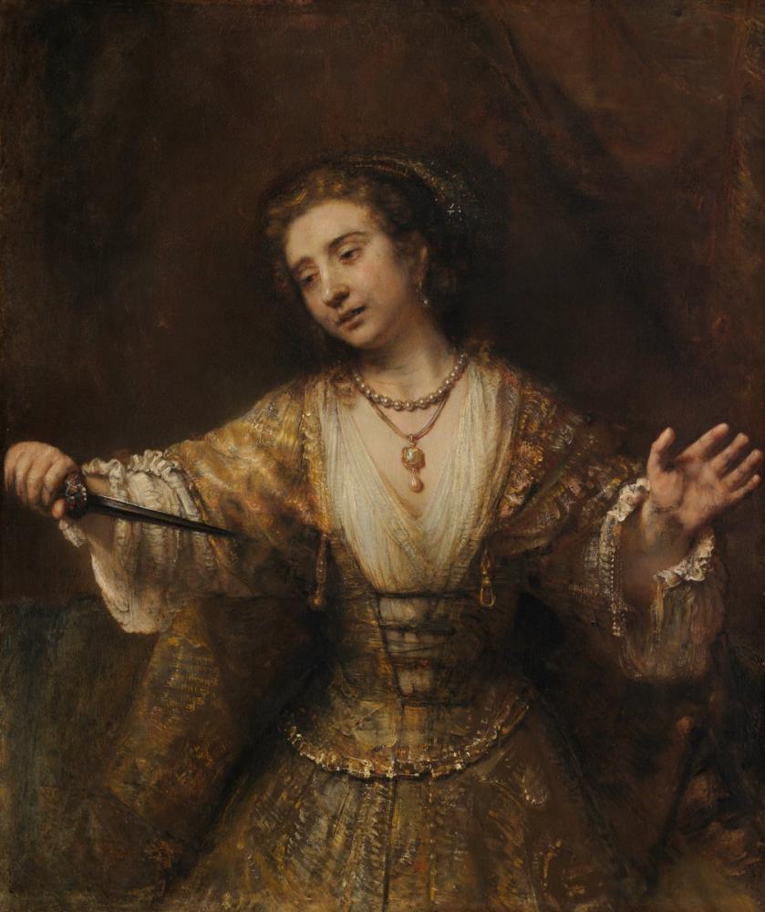 Rembrandt van Rijn, Lucretia, Kanvas Tablo, Rembrandt, kanvas tablo, canvas print sales