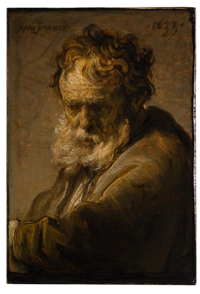 Rembrandt van Rijn, Bust Of A Bearded Old Man, Canvas, Rembrandt, kanvas tablo, canvas print sales