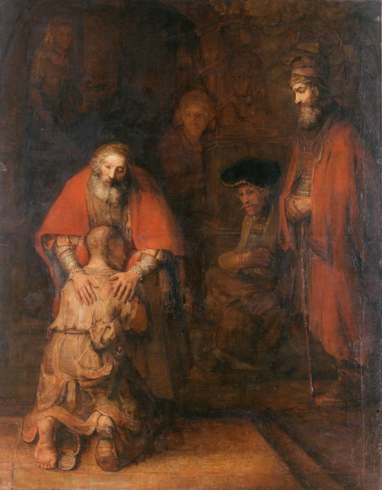 Rembrandt van Rijn, Savurgan Oğulunun Dönüşü, Kanvas Tablo, Rembrandt, kanvas tablo, canvas print sales