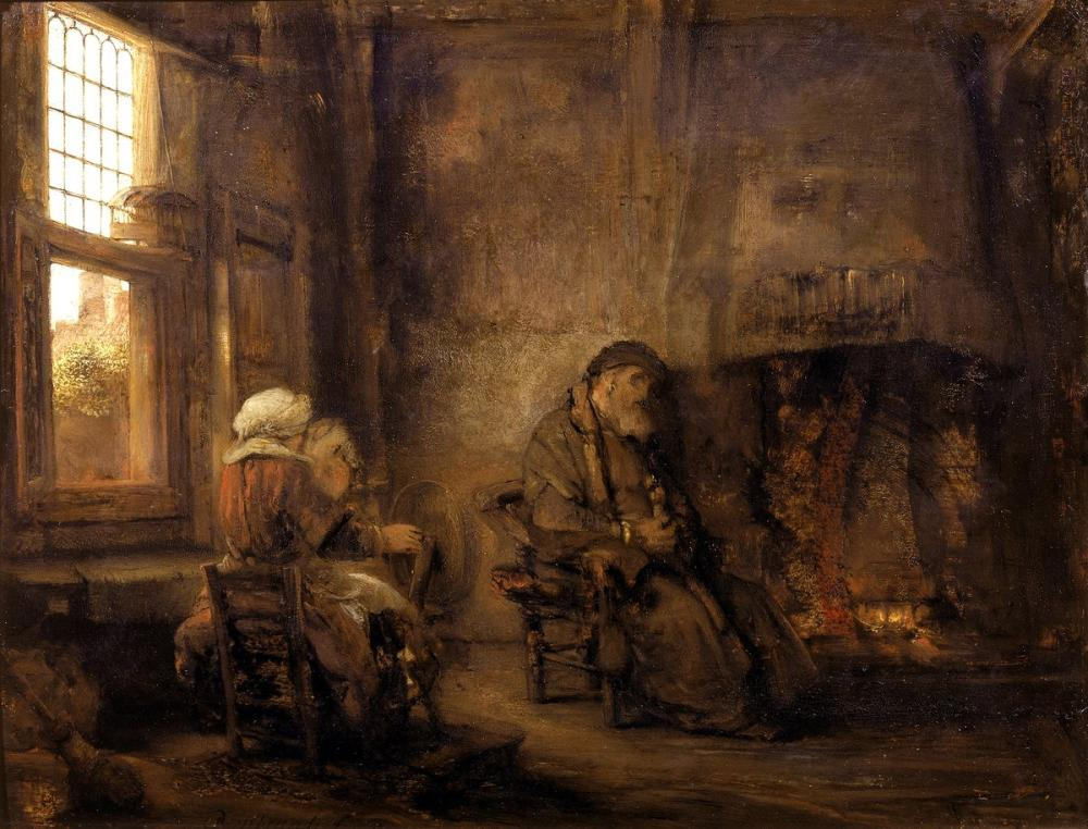Rembrandt van Rijn, Tobit Ve Karısı, Kanvas Tablo, Rembrandt, kanvas tablo, canvas print sales