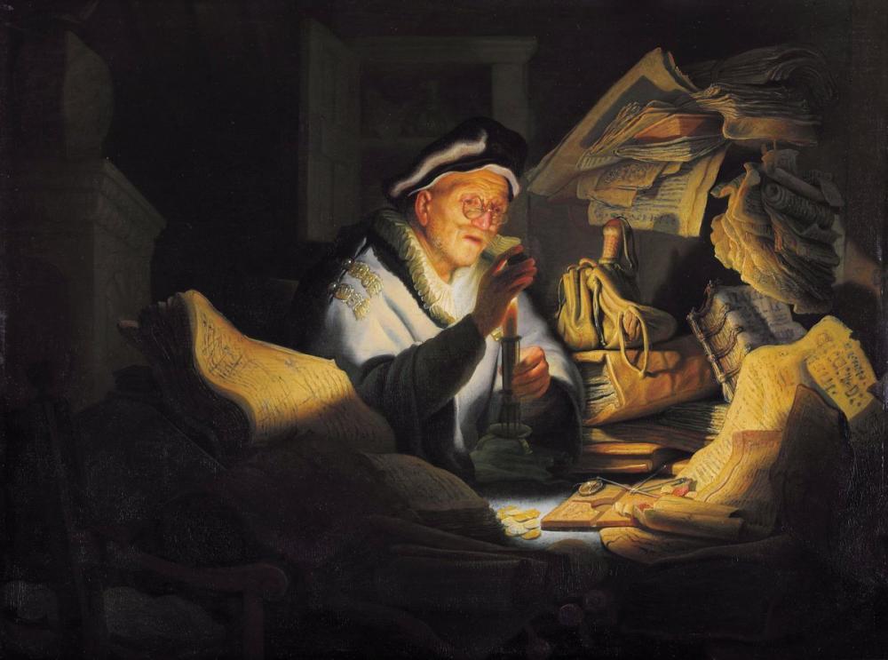 Rembrandt van Rijn, Zengin Aptalın Hikayesi, Kanvas Tablo, Rembrandt, kanvas tablo, canvas print sales