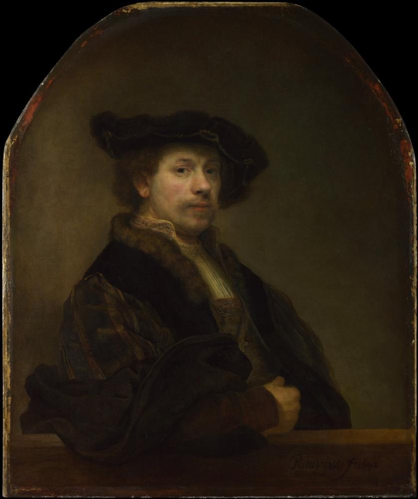 Rembrandt van Rijn, Self Portrait At The Age Of 34, Canvas, Rembrandt, kanvas tablo, canvas print sales