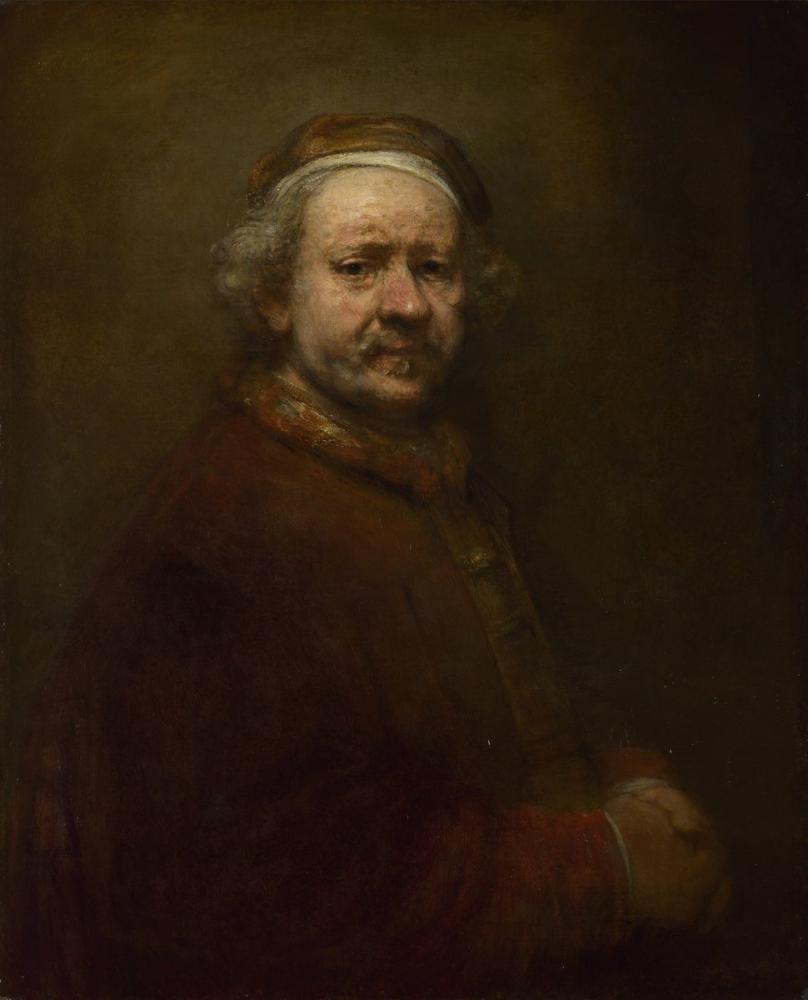 Rembrandt van Rijn, 69 Yaşında Otoportre, Kanvas Tablo, Rembrandt, kanvas tablo, canvas print sales