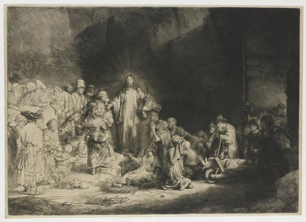 Rembrandt van Rijn, The Hundred Guilder Print, Canvas, Rembrandt, kanvas tablo, canvas print sales