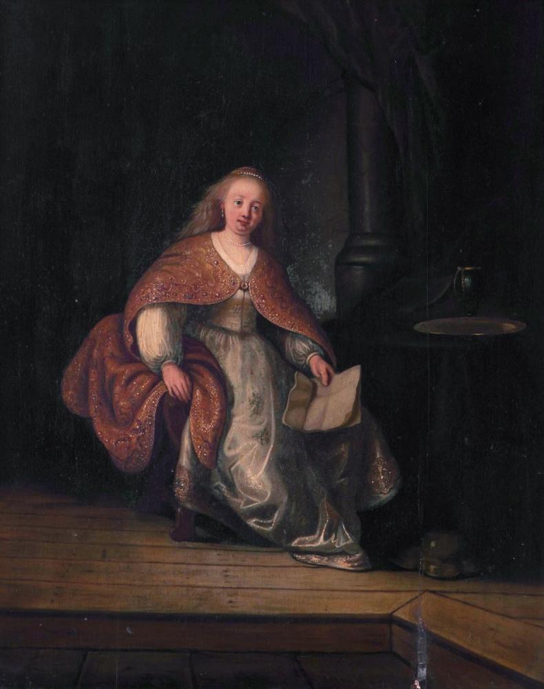 Rembrandt van Rijn, Davud Mektubu İle Batşeba, Kanvas Tablo, Rembrandt, kanvas tablo, canvas print sales