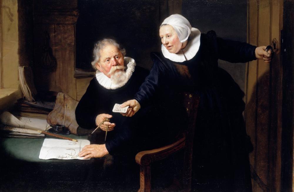 Rembrandt van Rijn, Gemi Mühendisi Ve Karısı, Kanvas Tablo, Rembrandt, kanvas tablo, canvas print sales