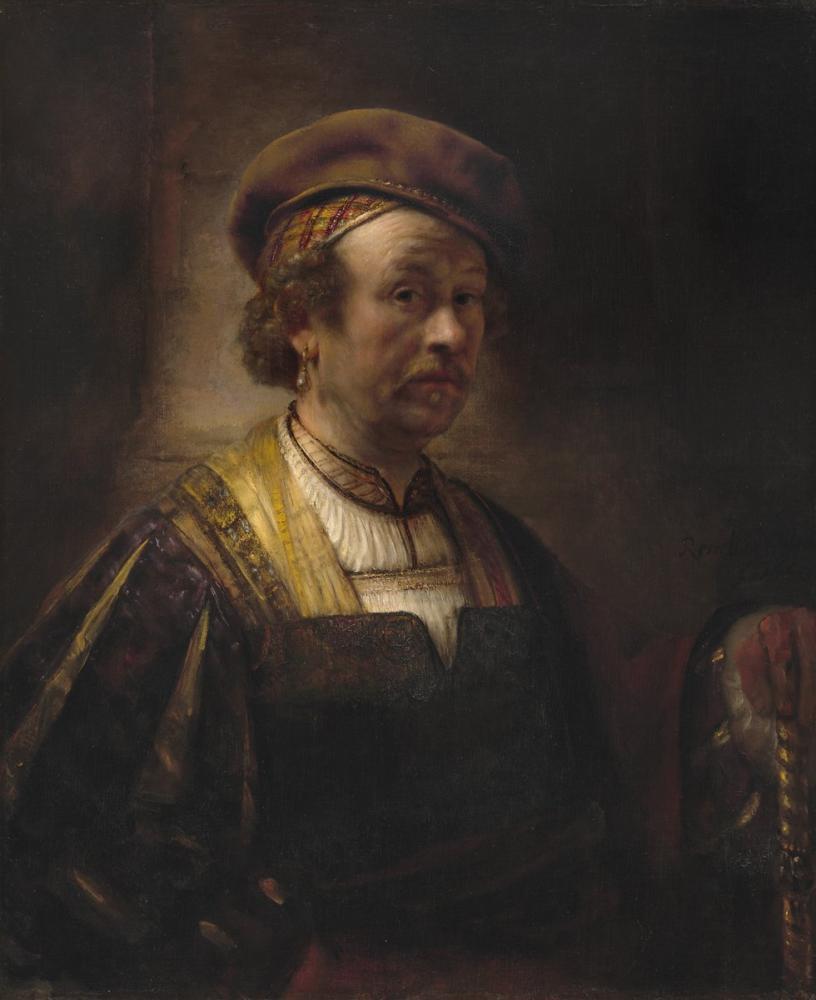 Rembrandt van Rijn, Portrait Of Self, Canvas, Rembrandt, kanvas tablo, canvas print sales
