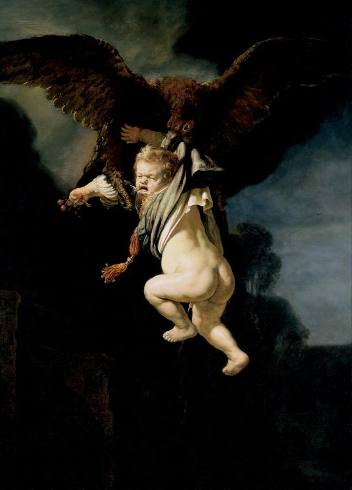 Rembrandt van Rijn, The Abduction Of Ganymede, Canvas, Rembrandt, kanvas tablo, canvas print sales