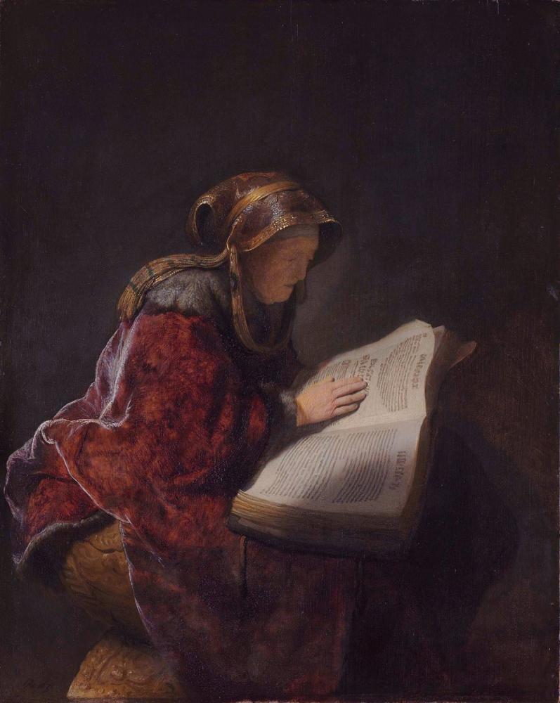 Rembrandt van Rijn, Peygamber Anna, Kanvas Tablo, Rembrandt, kanvas tablo, canvas print sales