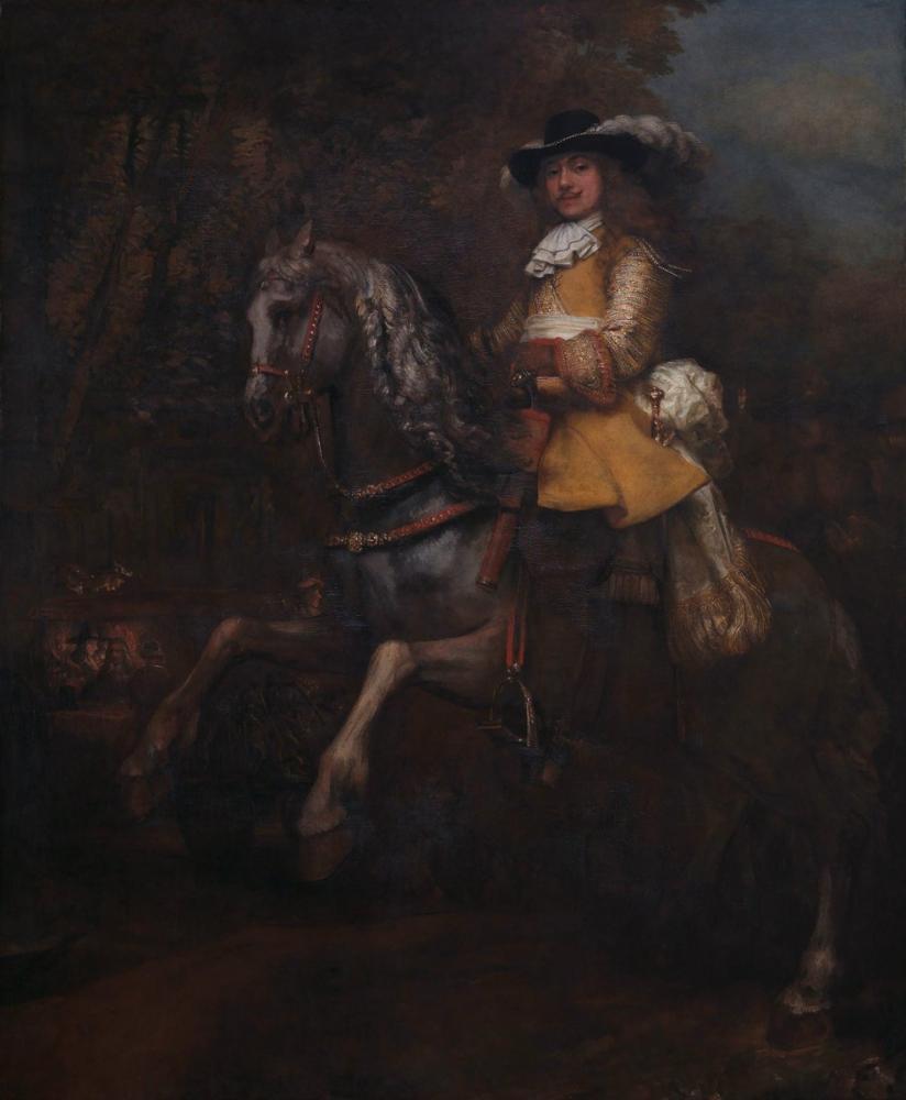 Rembrandt van Rijn, Frederick Rihel On Horseback, Canvas, Rembrandt, kanvas tablo, canvas print sales