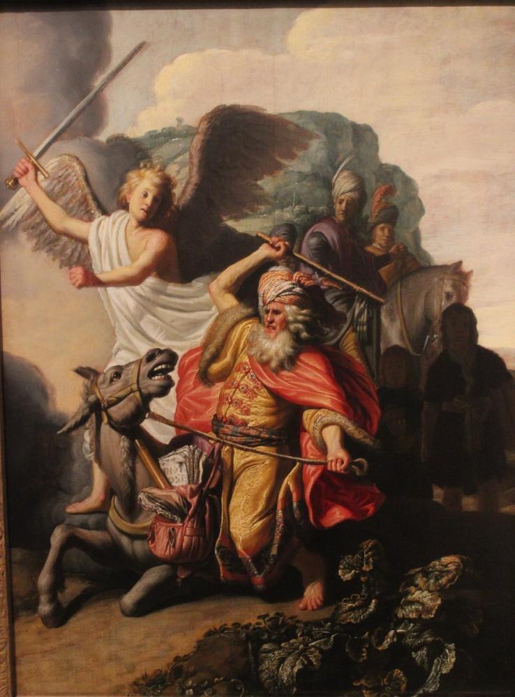 Rembrandt van Rijn, Balaam ın Eşeği, Kanvas Tablo, Rembrandt, kanvas tablo, canvas print sales