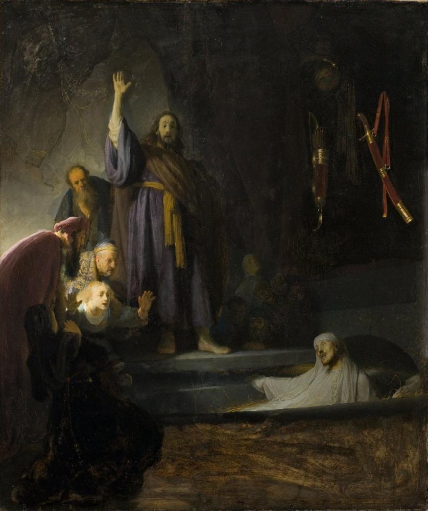 Rembrandt van Rijn, The Raising Of Lazarus, Canvas, Rembrandt, kanvas tablo, canvas print sales