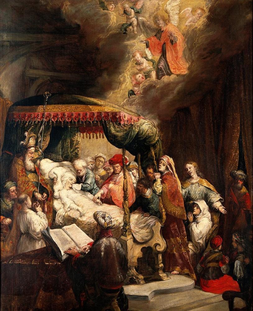 Rembrandt van Rijn, The Dormition Of The Virgin, Canvas, Rembrandt, kanvas tablo, canvas print sales