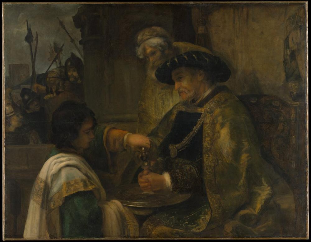 Rembrandt van Rijn, Pilate Ellerini Yıkıyor, Kanvas Tablo, Rembrandt, kanvas tablo, canvas print sales