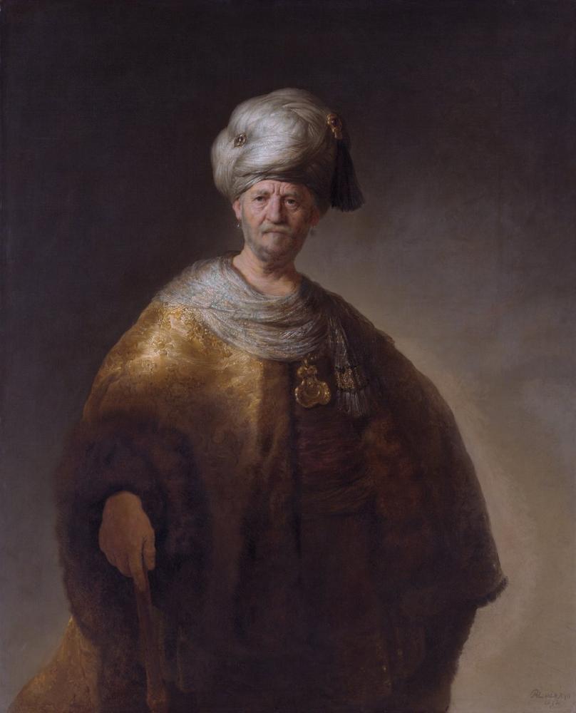 Rembrandt van Rijn, Oryantal Kostümlü Adam, Kanvas Tablo, Rembrandt, kanvas tablo, canvas print sales