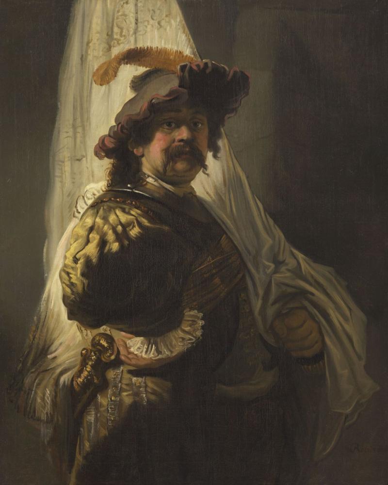 Rembrandt van Rijn, Follower The Flag Bearer, Canvas, Rembrandt, kanvas tablo, canvas print sales