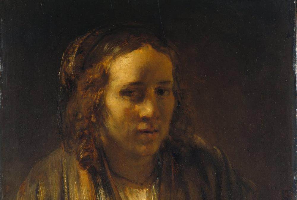 Rembrandt van Rijn, Portrait Of A Young Woman, Canvas, Rembrandt, kanvas tablo, canvas print sales