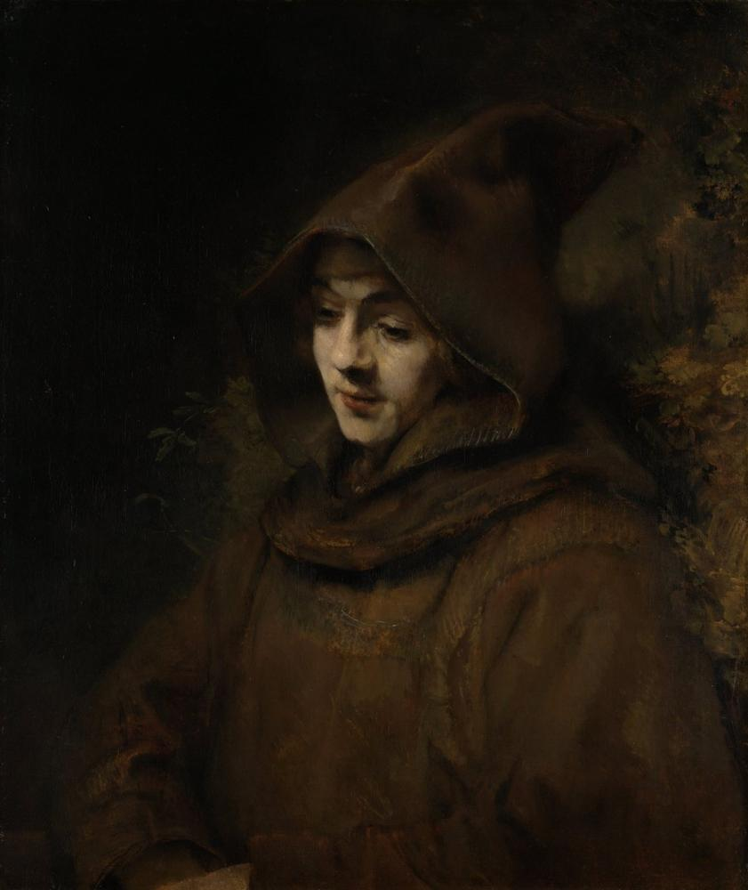 Rembrandt van Rijn, Titus In Monk Costume, Canvas, Rembrandt, kanvas tablo, canvas print sales