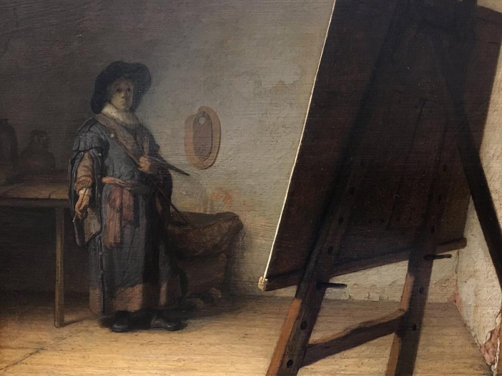 Rembrandt van Rijn, Atölyesinde Sanatçı, Kanvas Tablo, Rembrandt, kanvas tablo, canvas print sales
