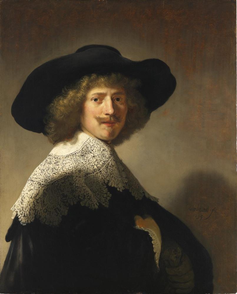 Rembrandt van Rijn, Antonie Coopal Portresi, Kanvas Tablo, Rembrandt, kanvas tablo, canvas print sales