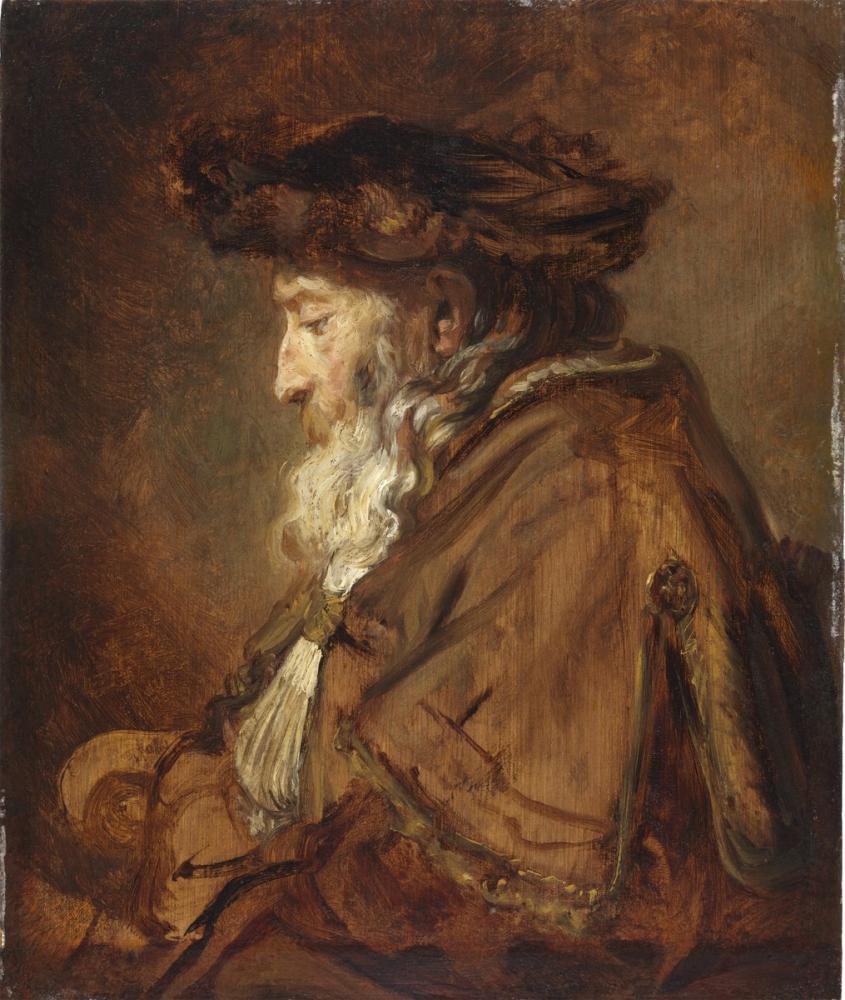 Rembrandt van Rijn, Portrait Of An Old Man Possibly A Rabbi, Canvas, Rembrandt, kanvas tablo, canvas print sales