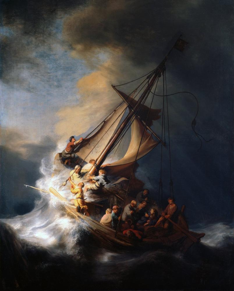 Rembrandt van Rijn, Christ In The Storm On The Lake Of Galilee, Canvas, Rembrandt, kanvas tablo, canvas print sales