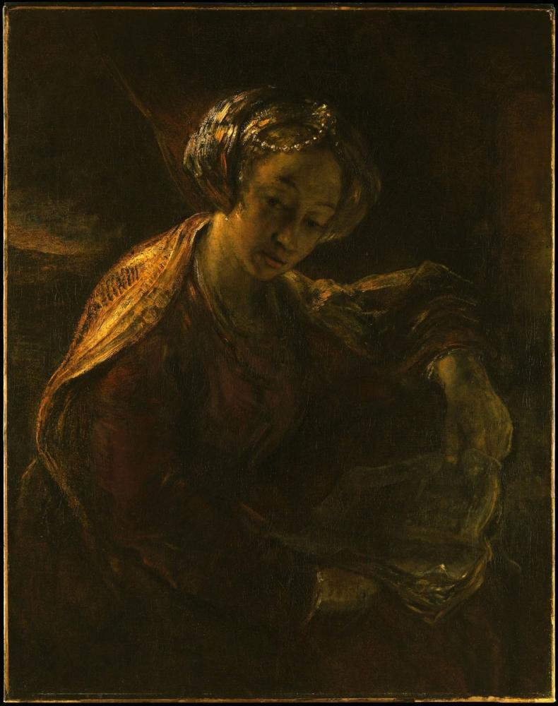 Rembrandt van Rijn, The Sibyl, Canvas, Rembrandt, kanvas tablo, canvas print sales