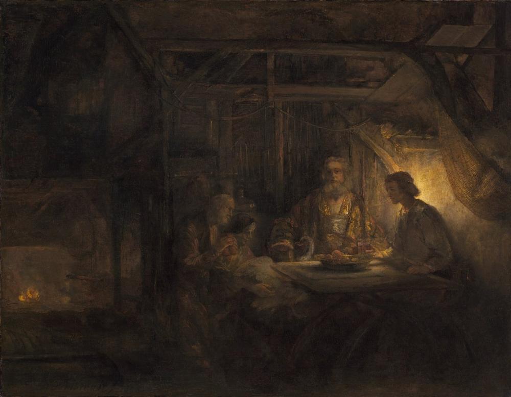 Rembrandt van Rijn, Baukis İle Filemon, Kanvas Tablo, Rembrandt, kanvas tablo, canvas print sales