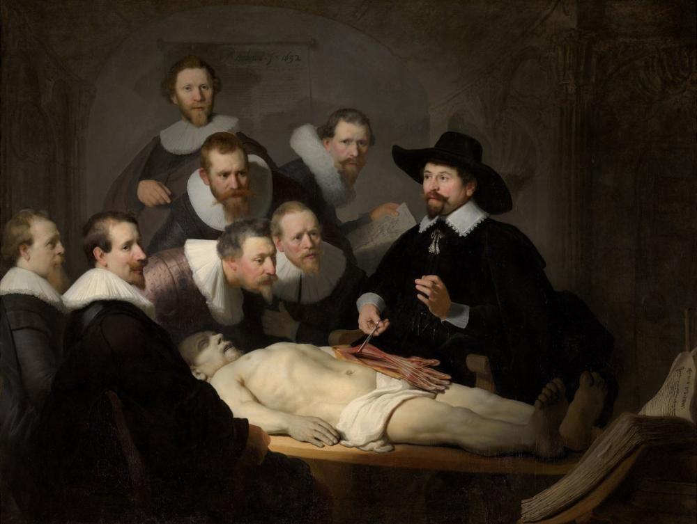 Rembrandt van Rijn, Nicolaes Tulp Anatomi Dersi, Kanvas Tablo, Rembrandt, kanvas tablo, canvas print sales