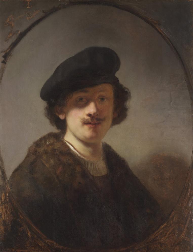 Rembrandt van Rijn, Gölgeli Gözler İle Otoportre, Kanvas Tablo, Rembrandt, kanvas tablo, canvas print sales