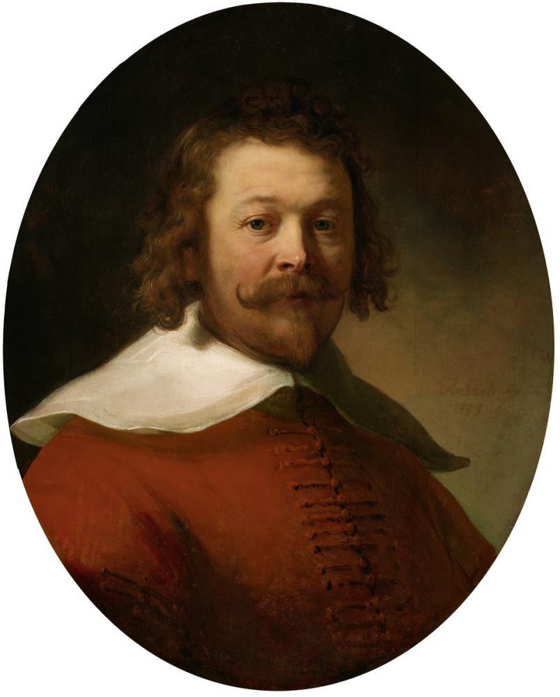 Rembrandt van Rijn, Portrait Of A Man In A Red Coat, Canvas, Rembrandt, kanvas tablo, canvas print sales