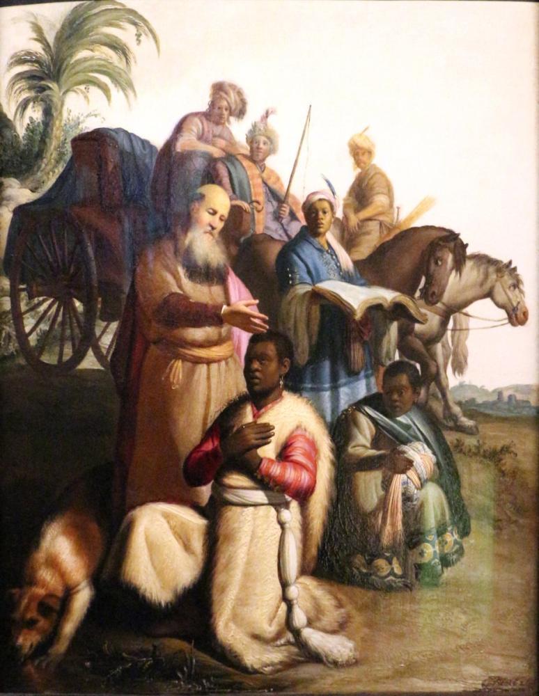 Rembrandt van Rijn, Baptism Of The Eunuch, Canvas, Rembrandt, kanvas tablo, canvas print sales