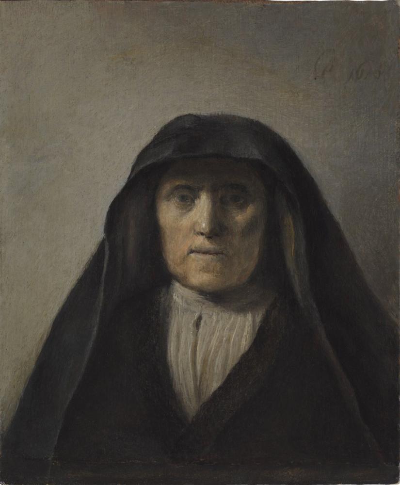 Rembrandt van Rijn, Yaşlı Bir Kadının Büstü, Kanvas Tablo, Rembrandt, kanvas tablo, canvas print sales