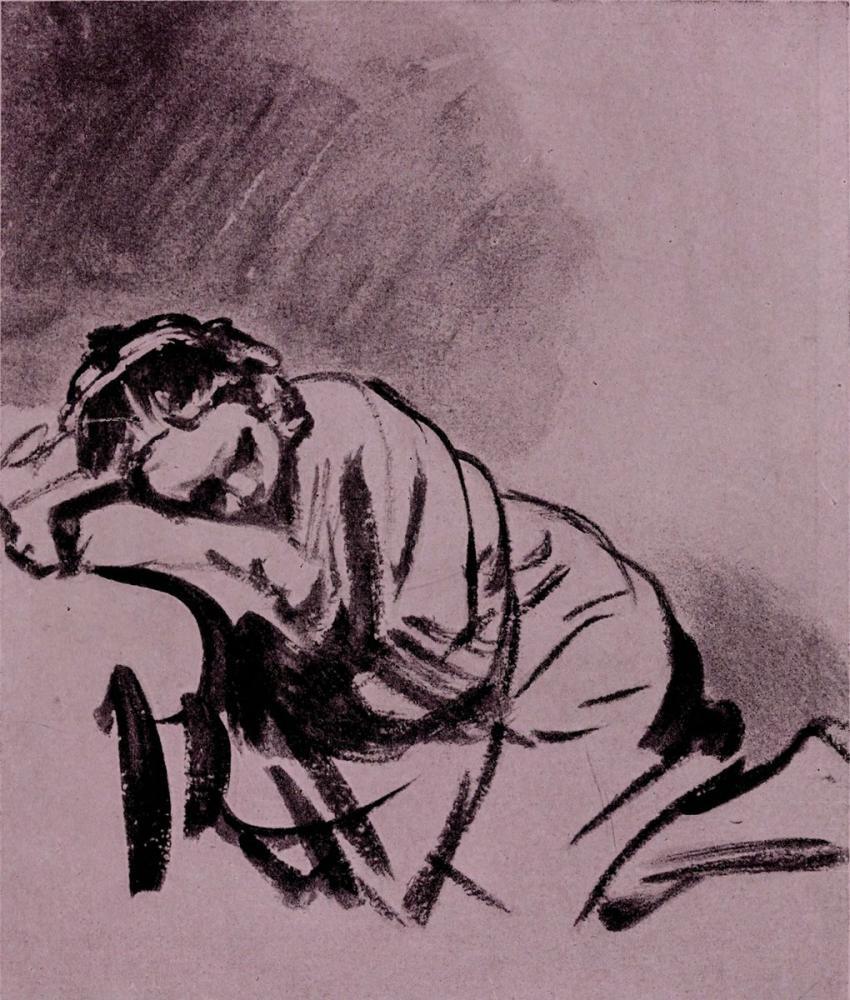 Rembrandt van Rijn, El Çizimleri, Figür, Rembrandt, kanvas tablo, canvas print sales
