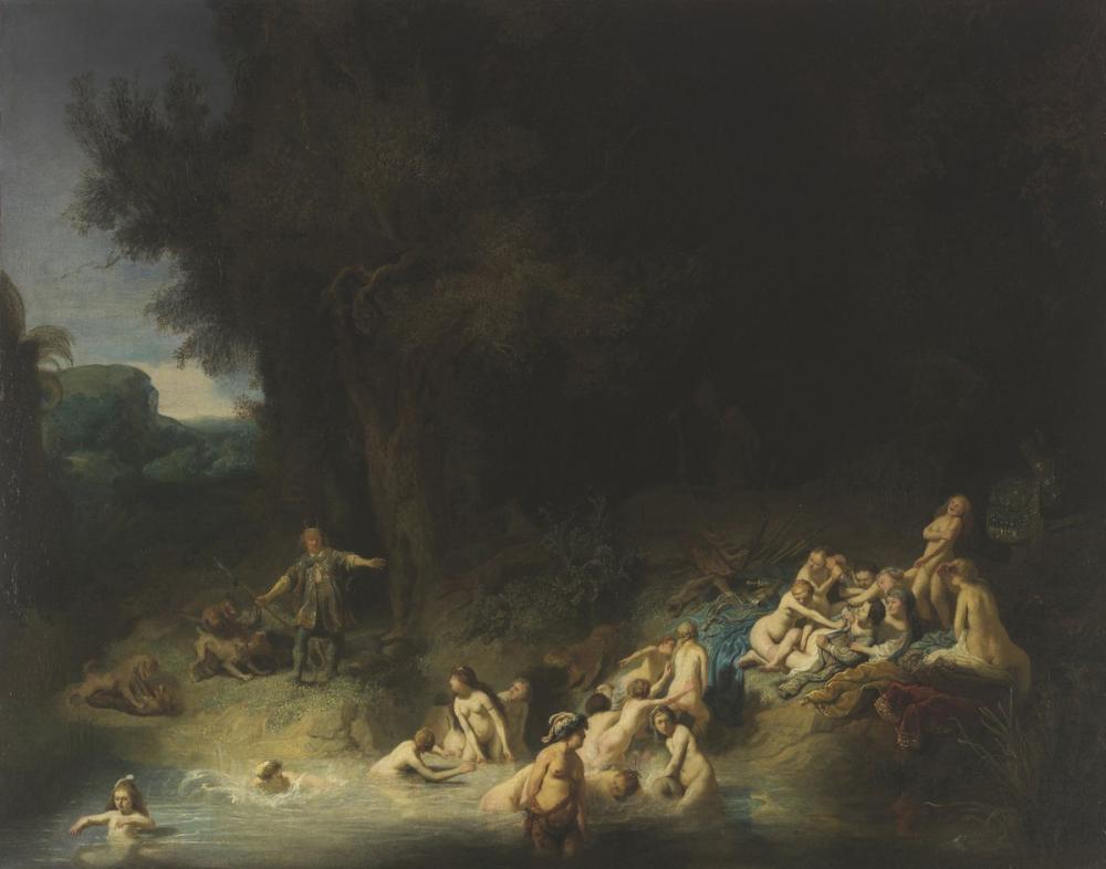 Rembrandt van Rijn, Diana With Actaeon And Callisto, Canvas, Rembrandt, kanvas tablo, canvas print sales