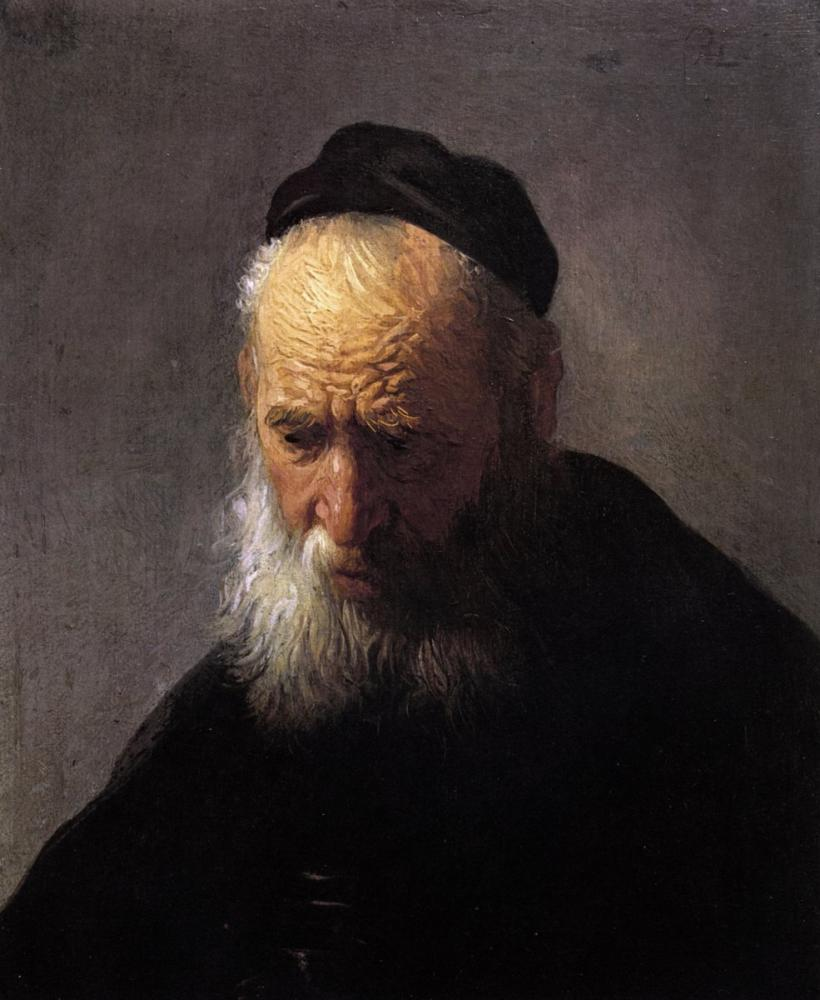 Rembrandt van Rijn, Head Of An Old Man In A Cap, Canvas, Rembrandt, kanvas tablo, canvas print sales
