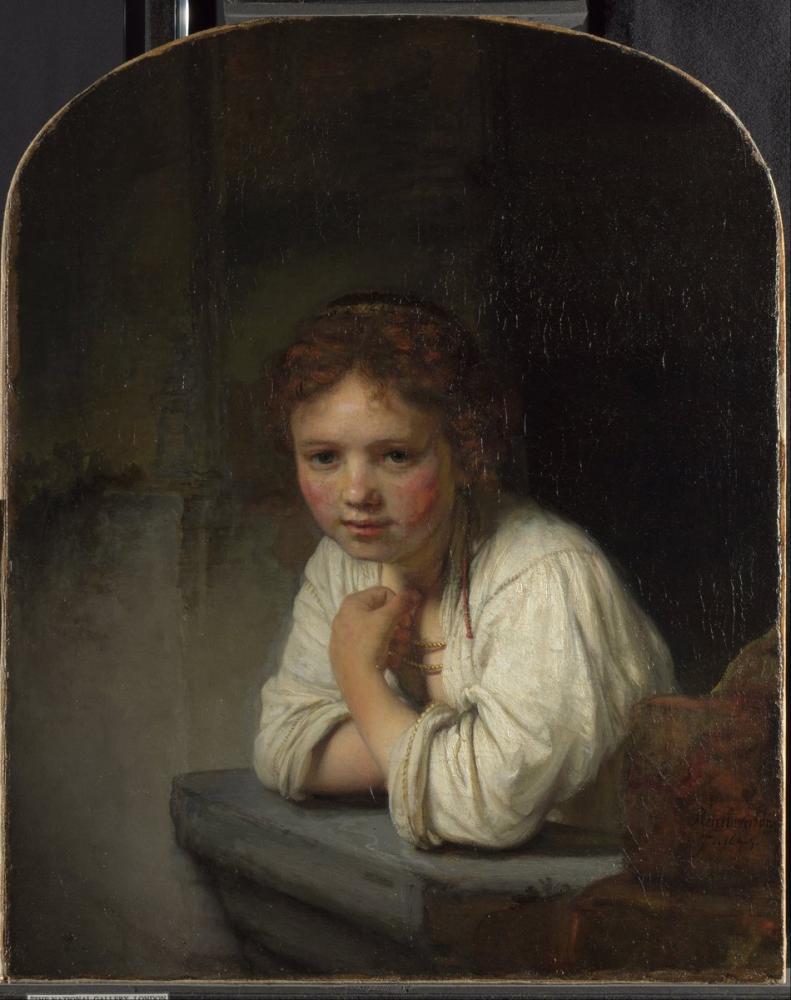 Rembrandt van Rijn, Bir Penceredeki Kız, Kanvas Tablo, Rembrandt, kanvas tablo, canvas print sales